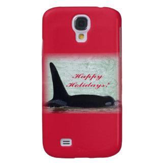 Happy Holidays: Orca Whale Happy Holidays San Juan Samsung Galaxy S4 Cover