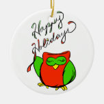 Happy Holidays Ornament from Happy Owl
