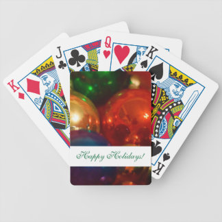 Happy Holidays Ornaments Bicycle Playing Cards