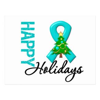 Happy Holidays Ovarian Cancer Awareness Postcard