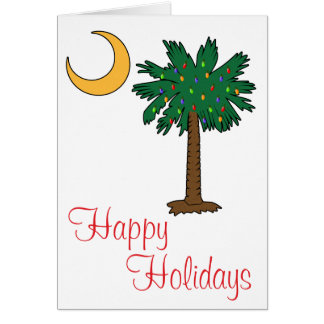Happy Holidays Palmetto Moon Card