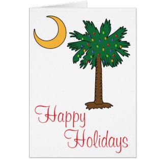 Happy Holidays Palmetto Moon Card