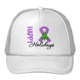 Happy Holidays Pancreatic Cancer Awareness Trucker Hat
