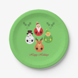 Happy Holidays! Paper Plate