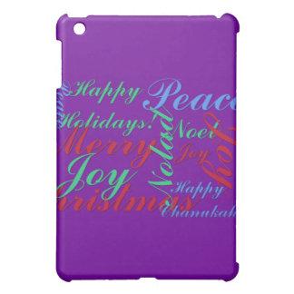 Happy Holidays Peace Joy Noel Merry Christmas iPad Mini Cases
