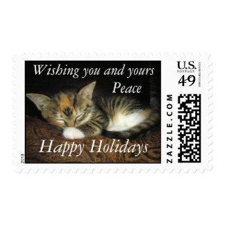 Happy Holidays Peace Postage