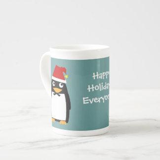 Happy holidays Penguin Christmas and Hanukkah Porcelain Mug