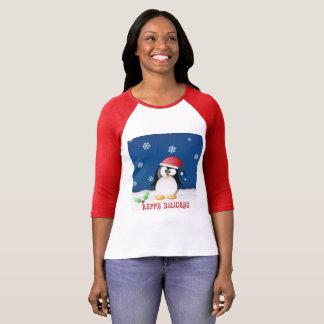 Happy Holidays Penguin T-Shirt