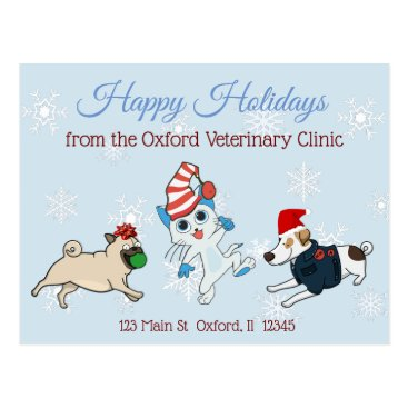 Professional Business Happy Holidays Pet Business Christmas Cards