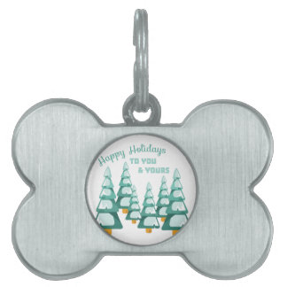 Happy Holidays Pet ID Tag