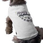 Happy Holidays Pet T Shirt