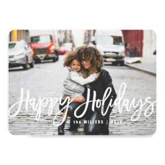 Happy Holidays Photo Card, horizontal Card