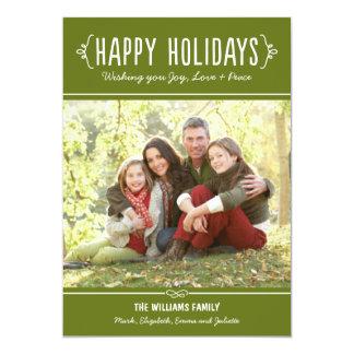 Happy Holidays Photo Card | Joy Love Peace Wishes