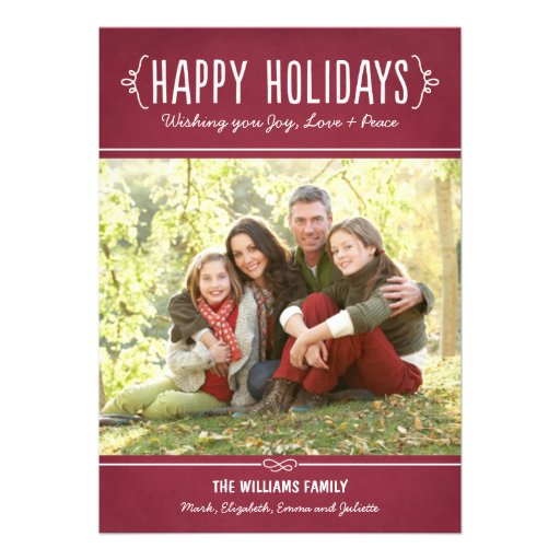 Happy Holidays Photo Card | Joy Love Peace Wishes