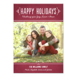 Happy Holidays Photo Card | Joy Love Peace Wishes Announcements