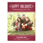Happy Holidays Photo Card | Joy Love Peace Wishes Custom Announcement