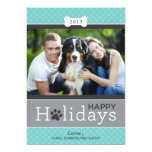 Happy Holidays Photo Card | Puppy Dog Theme Personalized Invitation