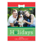 Happy Holidays Photo Card | Puppy Dog Theme Custom Announcement