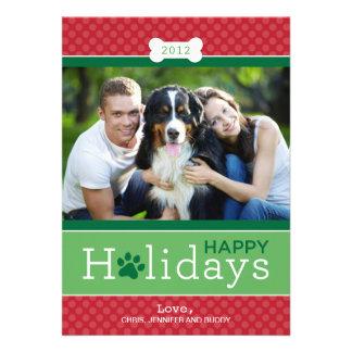 Happy Holidays Photo Card | Puppy Dog Theme Personalized Invites