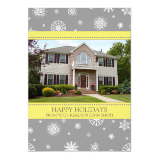 Happy Holidays Photo Card Real Estate Business