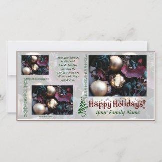 Happy Holidays Photo Card - Use Your Photos