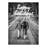Happy Holidays Photo Christmas Holiday Red White Custom Invites