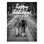 Happy Holidays Photo Christmas Holiday White Bold Post Cards