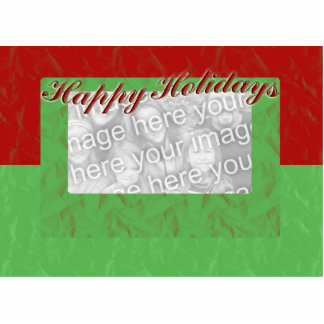 Happy Holidays Photo Frame Statuette
