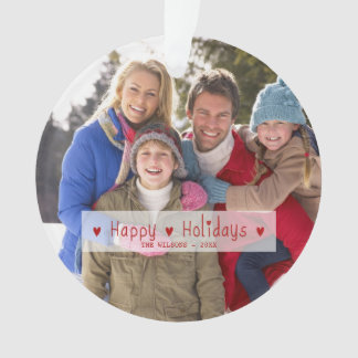 HAPPY HOLIDAYS PHOTO HOLIDAY ORNAMENT