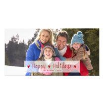 HAPPY HOLIDAYS PHOTO HOLIDAY PHOTO CARD