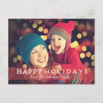Happy Holidays Photo Postcards