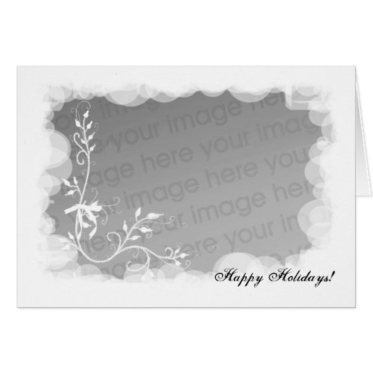 Happy Holidays Photo Template. Card