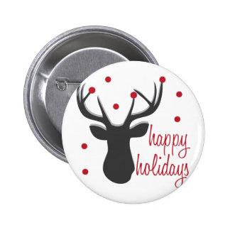 Happy Holidays Pinback Button