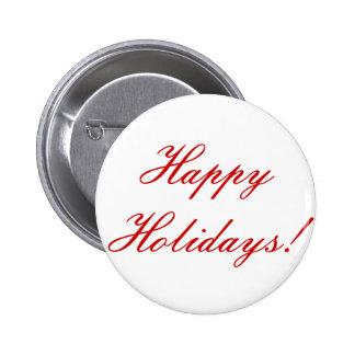 Happy Holidays! Pinback Button