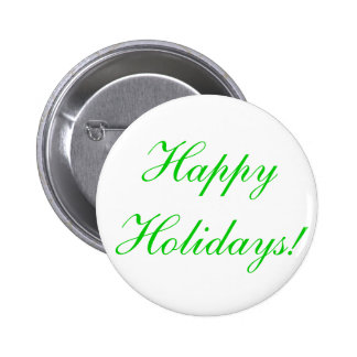 Happy Holidays! Pinback Buttons
