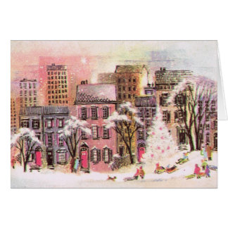 Happy Holidays Pink Greeting card