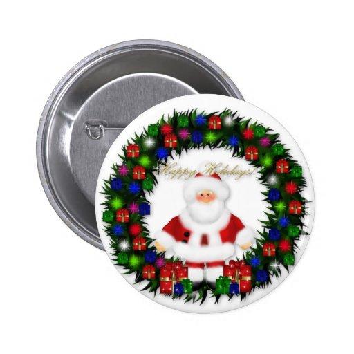 Happy Holidays Pins