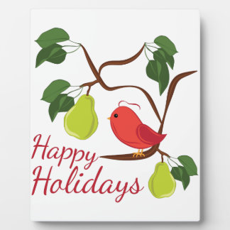 Happy Holidays Plaque