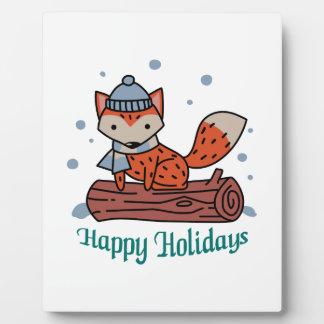 Happy Holidays Plaque