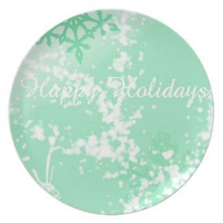 Happy Holidays Party Plates
