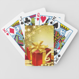 Happy holidays playing cards