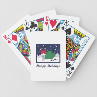 Happy Holidays Bicycle Playing Cards