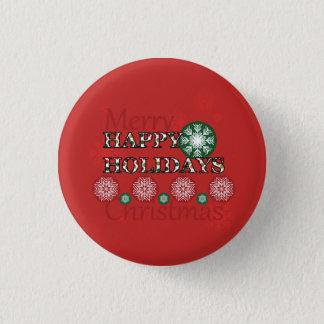 Happy Holidays Polkadot Word Art Button