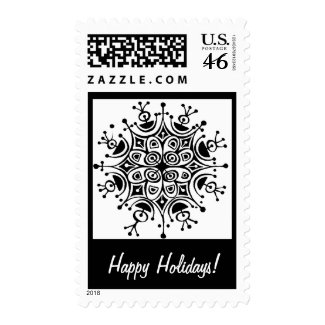 Happy Holidays postage stamp stamp