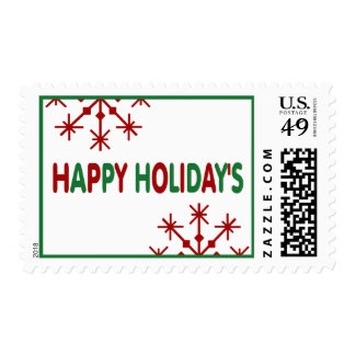 Happy Holiday's Postage Stamp