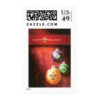 Happy Holidays Postage Stamp