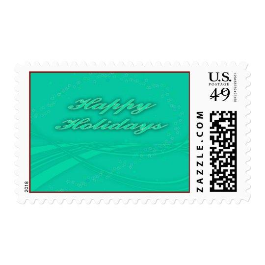 Happy Holidays Postage Stamp