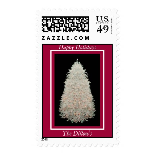 HAPPY HOLIDAYS POSTAGE STAMP TEMPLATE