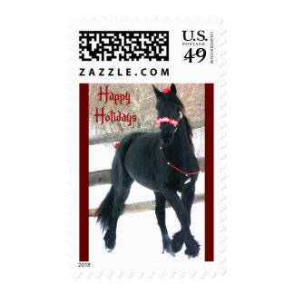 Happy Holidays Postage Stamps