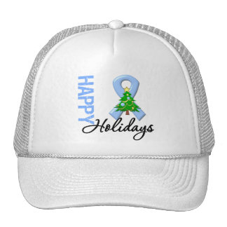 Happy Holidays Prostate Cancer Awareness Trucker Hat
